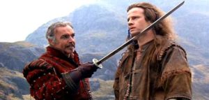 Scene from the film Highlander